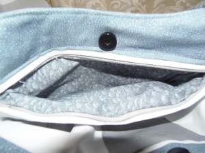 Inside zipper pocket