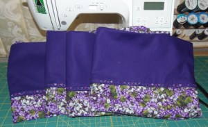 Purple pillowcases