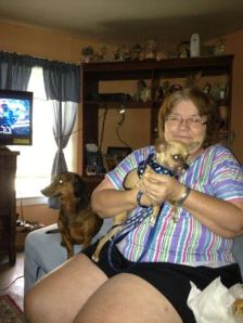 Gino, his new mama and brother