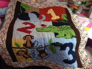 Monkey Quilt finished