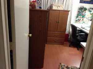 Both armoires seen from the door