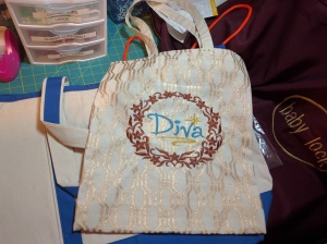 Diva canvas book bag